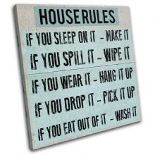 Children House Rules Typography - 13-2368(00B)-SG11-LO